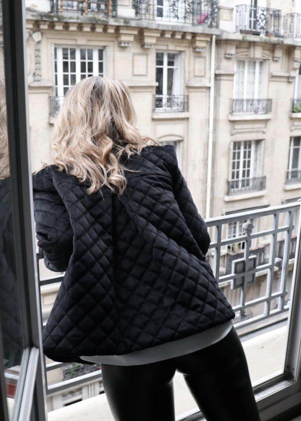 Veste CHARLIE - Noir (velours matelassé)