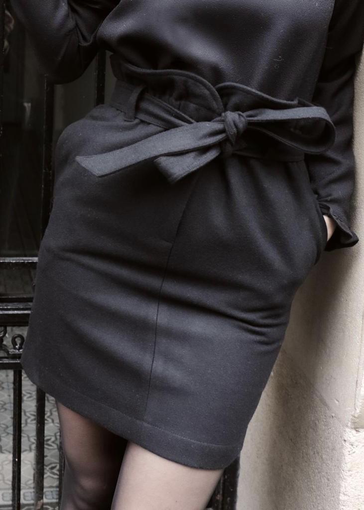 Jupe ALICE - Laine Noire