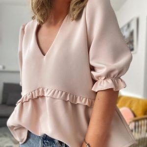 Blouse NAOMI - Pale pink